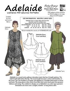 Adelaide (Large sizes) PDF sewing pattern Patronaje 6fa35c4188d6