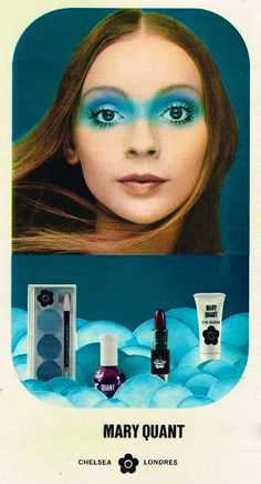 Mary Quant Cosmetics Ad - I tried this 'look' - funny - it didn't work out too well?!?!