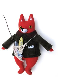 Fisherman fox softy by Mimi Kirchner Adorable little fish!