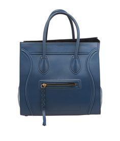 celine handbag for sale - Celine Phantom Grey & Blue Leather Large Tote | Large Tote, Celine ...