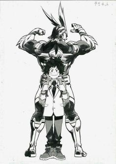 Deku and All Might