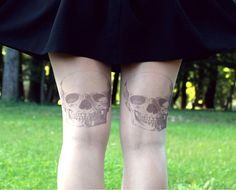 Rock Skulls  Tattoo Tights  Free Shipping  Made to by kellyatlarge, $23.00