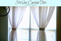 Sew Fabulous: No Sew Curtain Ties