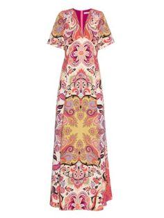 Patchwork paisley-print silk-crepe long dress   Etro   MATCHESFASHION.COM