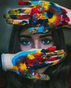 Painter Photography, Self Portrait Photography, Photo Portrait, Photography Poses Women, Artistic Photography, Creative Photography, Nature Photography, Colour Photography, Photography Flowers