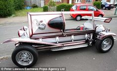 Phil Bissett's 'Holy Smoke' Coffin Car is Death Proof #coffins trendhunter.com