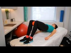 How to Train Your VMO (Vastus Medialis) | Knee Exercises - YouTube 1). Leg lifts with toes turned out, and 2) Bridges with something (ball, foam roller) between knees.
