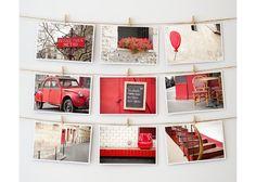 Paris Postcard Collection: Red