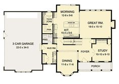 Traditional House Plan 54137 Level One