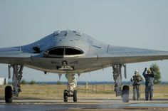 Ground testing the X-47B prior to carrier evaluations, 2011 . . .