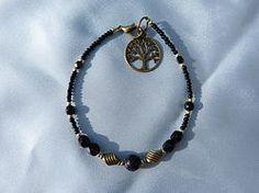 Bracelet pour homme en  jaie black stones.bplz08