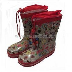 c7160a59d8e Catiuscas para niño o niña en caucho 100%. Botas infantiles de lluvia  forradas y con cincha de ajuste en la pierna. ENVIO GRATIS.