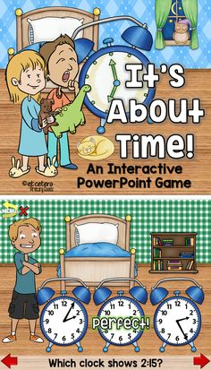 Practice telling time to the hour, half hour, quarter hour and minute with this fun, interactive PowerPoint!