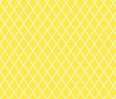 Yellow Quatrefoil fabric by vintagegreenlimited on Spoonflower - custom fabric