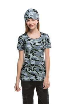 """Gen Flex print """"Glow Your Own Way"""" has a camo print with fun neon outlines. Matching Scrub Hat also available. Camo Scrubs, Surgical Tech, Medical Scrubs, Scrub Hats, Rain Wear, Camo Print, Outlines, Dentistry, Nurses"""