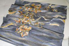 Купить КУПОН на платье Восточные мотивы - Батик, ручная роспись, авторская одежда, туника, пион