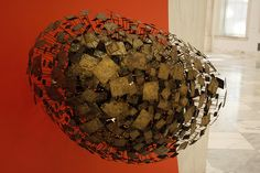 plane sculpture, part of installation for Zenith Radio Corporation, 1959, permanent collection of Museum of American Art, Washington, DC, Harry Bertoia,