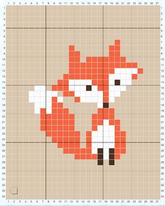 How to Cross Stitch on Crochet & Parker's Fox Pillow - Sewrella