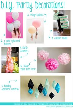 Glamour Avenue Parties the Blog.: Glamour Avenue Parties Feature: Party Tip Tuesday DIY Party Ideas