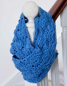 Blue Infinity Crochet Scarf