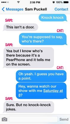 Sam & Cat's Texts