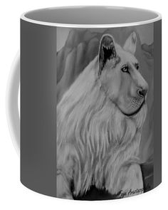Lion Coffee Mug featuring the drawing White Lion by Faye Anastasopoulou Lion Coffee, Coffee Mugs, Fancy Houses, Mugs For Sale, Unusual Gifts, Home Decor Items, The Guardian, Kitchen Accessories, Grey And White