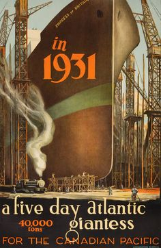 Empress Britain - The Canadian Pacific Cruise Poster, 1931 All Canadian Pacific posters