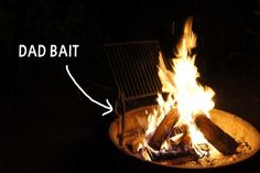 And become obsessed with poking the campfire. | 19 Things Dads Do On Camping Trips