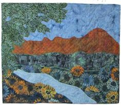 Quilts for Sale. Quilts made by American and Canadian quilters. Place to buy and sell quilts online. Quilts Online, Quilts For Sale, Sunflower Fields, Applique Quilts, Quilt Making, Scenery, Landscapes, Scrap, Blog