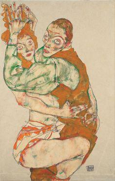www.gorringeantiques.co.uk Egon Schiele, 'Lovemaking' Austria (1915)