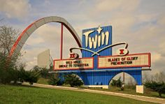 The Twin Drive-In Theater - Independence, Missouri Kansas City Downtown, Kansas City Missouri, Liberty Missouri, Liberty Mo, Twin Drive In, Independence Missouri, Good Drive, Drive In Movie Theater, Vintage Neon Signs