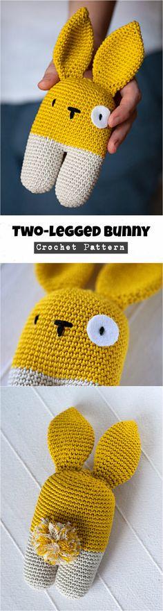Crochet Two-legged Bunny