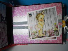 Minialbum Baby Girl - Scrapbook