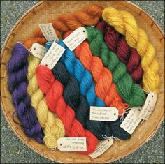 Rosie Beat uses plants from her kitchen garden to dye her wool.