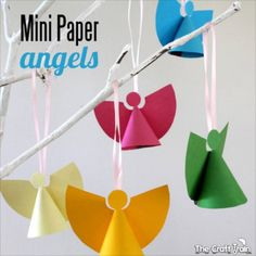 Mini Paper Angels via The Craft Train