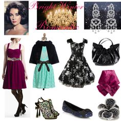 Bright Winter Romantic by thewildpapillon on Polyvore featuring Tiger Milly, Modern Vintage, Yves Salomon, OROBLU, Red Herring, Nicholas Kirkwood, Chanel, Effy Collection, Allurez and Monsoon