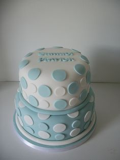 Boys christening cake by auroracakes (Dawn), via Flickr