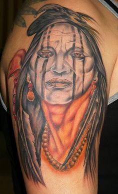 Indian tattoo, color     Unique Indian tattoo, www.thetattoofanatic.com