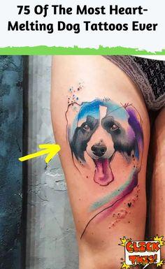 75 Of The Most Heart-Melting Dog Tattoos Ever Phoenix Tattoo Design, Skull Tattoo Design, Dragon Tattoo Designs, Tribal Tattoo Designs, Lion Tattoo, Dog Tattoos, Animal Tattoos, Horse Tattoos, Tribal Sleeve Tattoos