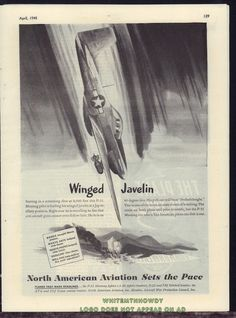1944 WW II P-51 MUSTANG Fighter-Bomber WWII WW2 North American Aviation AD