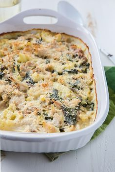 Cauliflower Chicken Casserole (swap crushed pork rinds for the panko to make low carb)