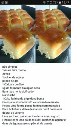 Bread Recipes, Cake Recipes, Brazil Food, Carribean Food, Good Food, Yummy Food, Diy Food, Pain, Cake Decorating Techniques