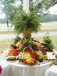 images of displays of reception food | Fruit and Cheese Display.JPG provided by Cherubim Wedding & Events ...