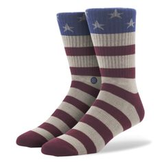 Stance The Fourth Socks. Stance is proud to debut a sock as American as apple pie. Premium combed cotton, an elastic arch band, and mesh vents keep your feet feeling free. Machine wash in 40 °C / 104