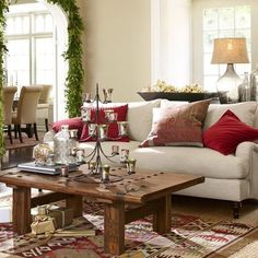Kilims - for an elegant ethnic touch.  Combine with a simple sofa and table, voila you've got a transformed room.