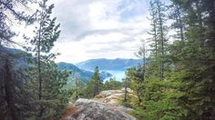 Viewpoint at the Sea to Sky Gondola - Squamish - BC - Canada.