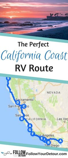 California is the perfect state for RVing. Here is a great road trip route idea to enjoy all the best destinations along the coast, including Big Sur, San Diego, Laguna Beach, and Dana Point. Included in the route are the top camping spots, RV parks, and also some stops at National Parks. Many of these stops are on your #RVing #bucketlist so get to planning your trip and checking them off. You'll be living the California dream! #California #californiadreaming #Roadtrip #RV