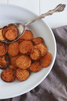 Caramelized sweet potato coins. Easy peasy