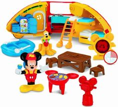 Fisher-Price Disney's Mickey Mouse Camper's Playset. Toys for 2 year old boys. And manufacturer recommended age:  2 to 6 years. Read more at http://www.toys-zone.com/fisher-price-disneys-mickey-mouse-campers-playset/