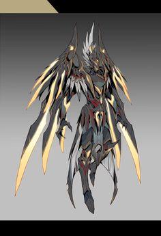 Monster Concept Art, Robot Concept Art, Fantasy Monster, Armor Concept, Fantasy Character Design, Character Design Inspiration, Character Art, Cyberpunk Character, Cyberpunk Art